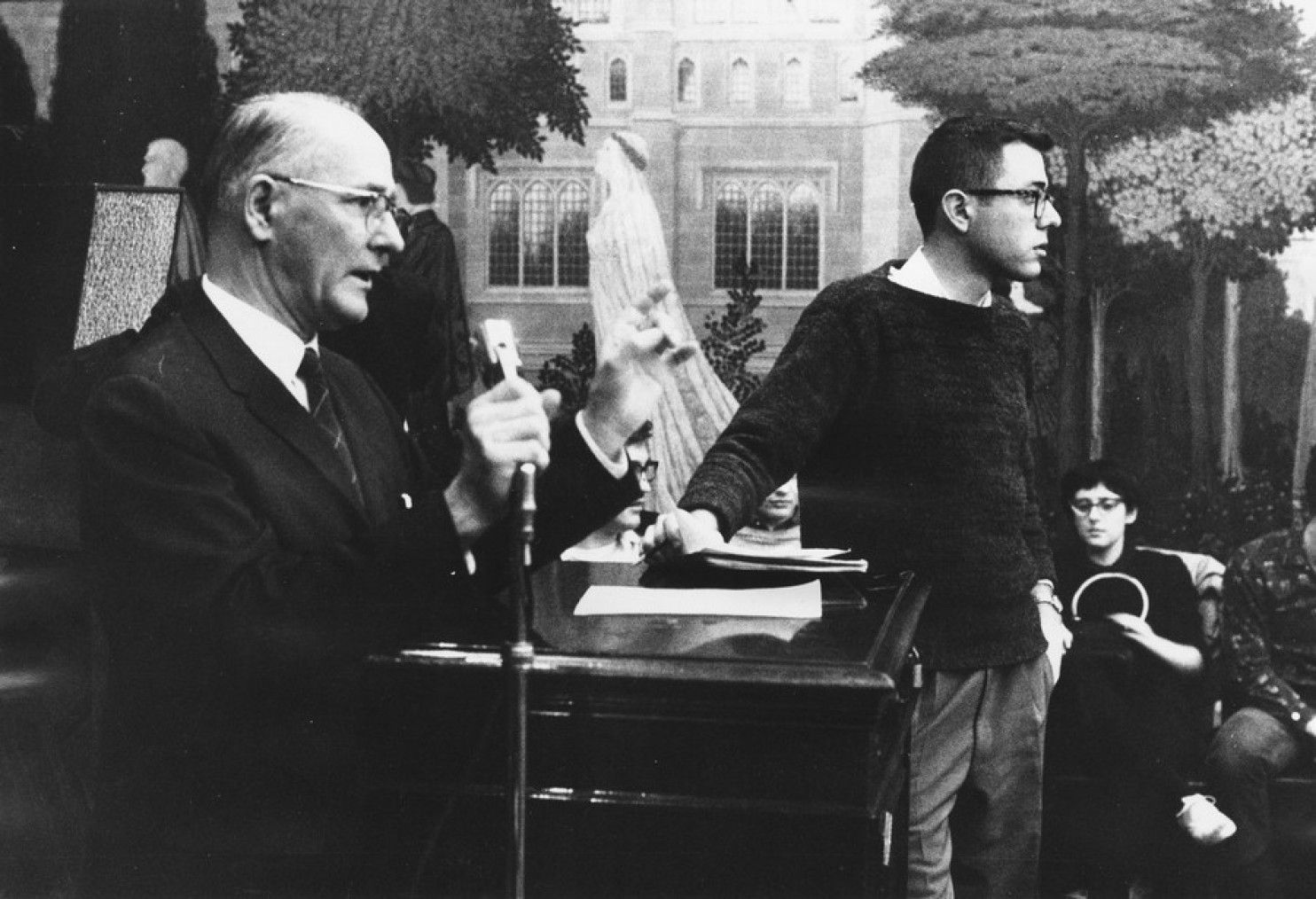 Bernie Sanders with University of Chicago President George Beadle Danny Lyon photo
