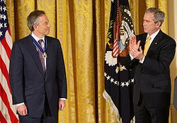 Ton Blair and George Bush