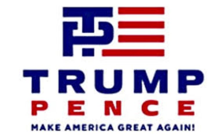 Donald Trump and Mike Pence logo