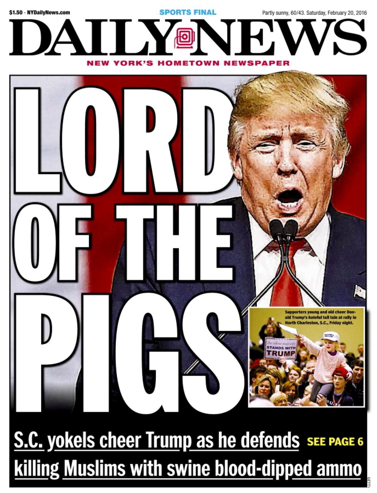 Donald Trump Lord of the Pigs cover