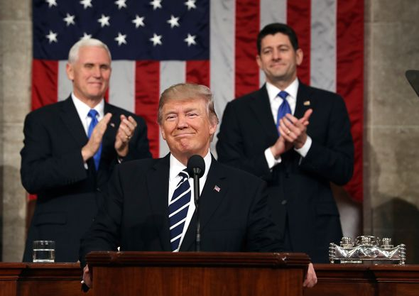 President Trump, Vice President Pence, House Speaker Ryan Feb. 28, 2017 (Jim Lo Scalzo / Pool image via AP)